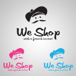 logo we shop with a french accent v1