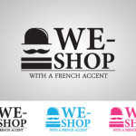 logo we shop with a french accent v31