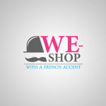 logo we shop with a french accent v42