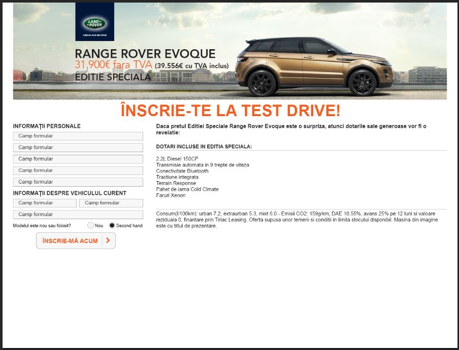 landrover page